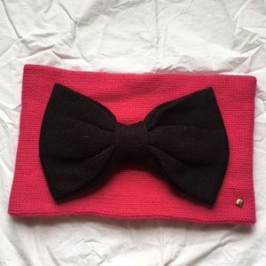 Kate Spade Neck Warmer with black Bow - NWOT